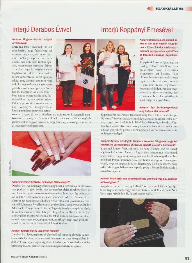 Nailpro Ungarn Juni 2006 1. Plätze Darabos und Koppanyi Seite 2
